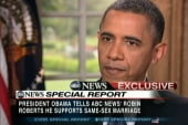 Obama: Same-sex couples should be able to...