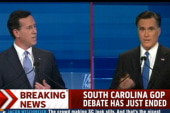 Gingrich and Santorum hit Romney over...