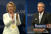Clinton, Bush share a stage before...
