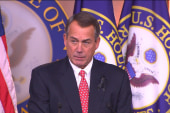 Boehner continues to play 'blame game'