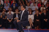 Romney bused in activists for TV forum