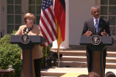 Obama and Merkel hold joint press conference