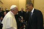 Obama and Pope Francis meet for the first...