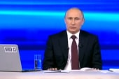 Snowden asks Putin about spying habits