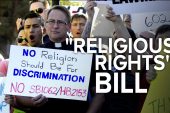 A struggle between religion and gay rights