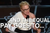 Oscars' equal pay moment