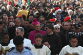 Pilgrims gather in Bethlehem