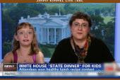 Girl discusses White House dinner, but...
