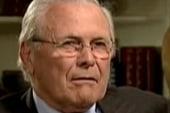 Rumsfeld gets defensive