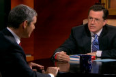 Stephen Colbert challenges Bravo TV star...