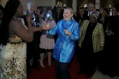 Hillary Clinton gets down on the dance...