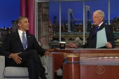 Letterman asks the president: How much do...