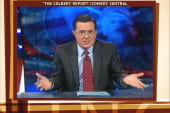 Colbert plays charades with Perry camp name