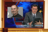 Colbert gives heartfelt goodbye to Steve Jobs