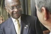 Men with mustaches love Herman Cain