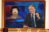 Stewart, Colbert respond to Gadhafi's death
