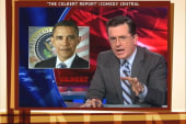 Colbert helps defend Romney's Obama attack ad