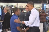 Obama goes holiday shopping at Best Buy,...