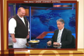 Why is Mario Batali feeding Jon Stewart on...