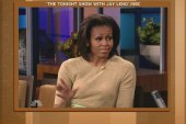 First Lady on her husband's singing: He...