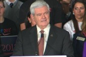 On primary night, Gingrich talks about a tree