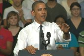 Obama to heckler: I'll read your book but...