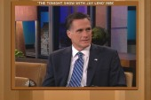 Romney plays word association with Leno,...