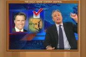 Stewart to Santorum: Romney won, game's...