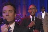President Obama and Fallon slow jam the news