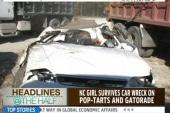 Girl survives car crash on pop-tarts
