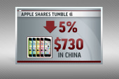 Apple stock falls after iPhone unveil