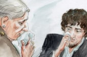 Tsarnaev shows emotion in court