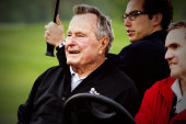 Former President Bush hospitalized