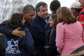 Obama meets with Christie, tours Jersey shore