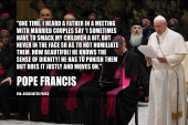 Pope Francis weighs in on corporal punishment
