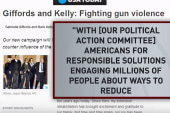 Giffords forms PAC to fight gun violence