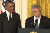 Obama touts Hagel's military experience to...