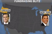 Obama, Romney campaign on opposite coasts