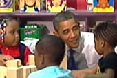 Obama cites education as an issue that...