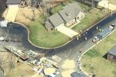 Crude pipeline ruptures in Arkansas...