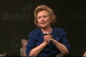 Hillary Clinton dodges shoe