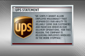 Did UPS workers protest or just stop working?