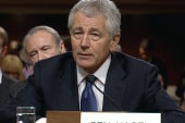 In the hot seat: the hawks surround Hagel