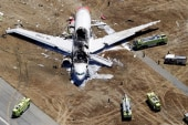 New footage of Asiana Airlines plane crash...