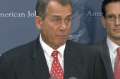 Boehner caught in middle of fiscal cliff...