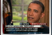 Obama supports same-sex marriage, draws...