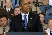 Obama discusses gun control measures in...