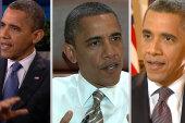 Obama goes on media whirlwind, Romney...
