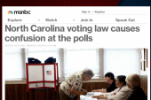The effect of North Carolina's voting law