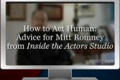James Lipton teaches Romney how to laugh